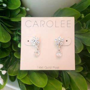 CAROLEE 14KT GOLD POSTS BLING EARRINGS